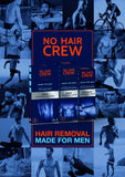 NO HAIR CREW Premium Intimate Hair Removal Cream – Extra Gentle Hair Removal Cream for Sensitive Areas. Made for Men, 100 ml