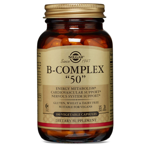 "Solgar Formula Vitamin B-Complex ""50"" Vegetable Capsules - Pack of 100"