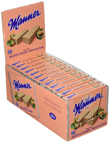 Manner Original Neapolitaner Wafers 75 g (Pack of 12)