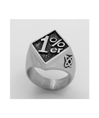 1%Number Rings for Men Punk Simple Style Jewelry