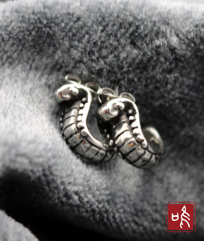 Titanium Lovely Snake Ear Stud with Retro Design