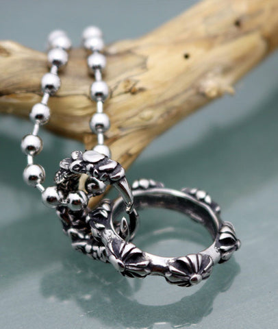 New Arrival Titanium Men's Necklace Pendent with Dragon Claw for Women and Men