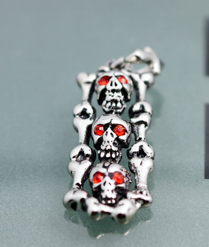 Hot! Casting Three Skull Pendants Punk Jewellery for Men