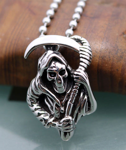 New Arrival Stainless Steel Death Scythe Jewelry Skull Pendant for Men