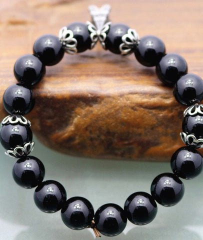 Women Natural Beautiful Agate Beaded Bracelet
