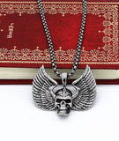 Punk Style-For Men and Women-Rock Skull Pendant with Wings