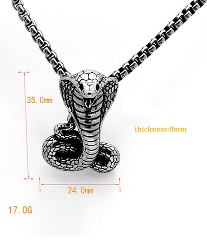 New Arrival Men's Pendant Snake Jewelry Necklace
