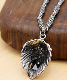 men's necklace lion pendants