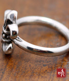 Chrome Flower Design Tail Ring with No Allergy for Tail Finger