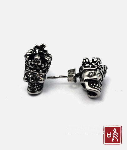 Imperial Crown Skull Ear Stud