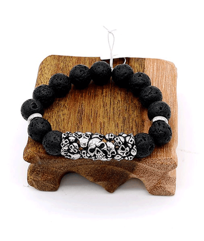 Titanium skull bracelet  for men