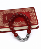 red agate bracelet for men