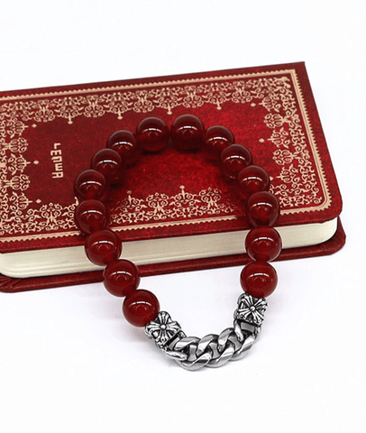 New Arrival Beaded Bracelet Natural Red Agate Jewelry For Men