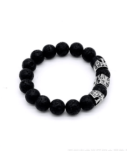 New Arrival Volcanic Beaded Jewel Titanium Bead Bracelet For Men