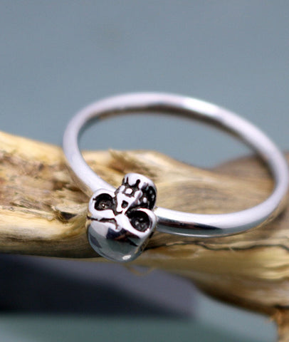 Hot! Personlity 316L Stainless Steel  Skull Tail Rings for Men