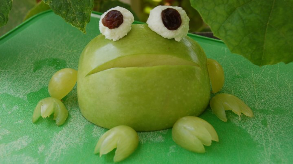 Easy, Healthy, and Fun Frog Snack