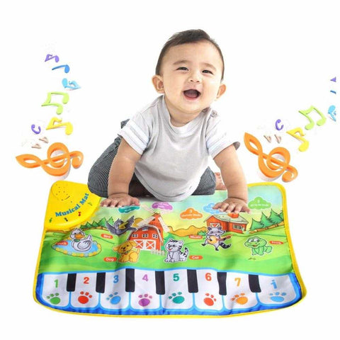Image of Fun Piano Farm Animal Musical Carpet - MyShoppingSpot