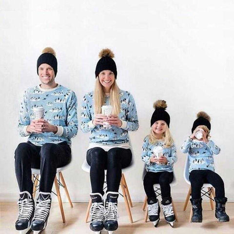 Matching Beanie Knitted Hats with Faux Fur
