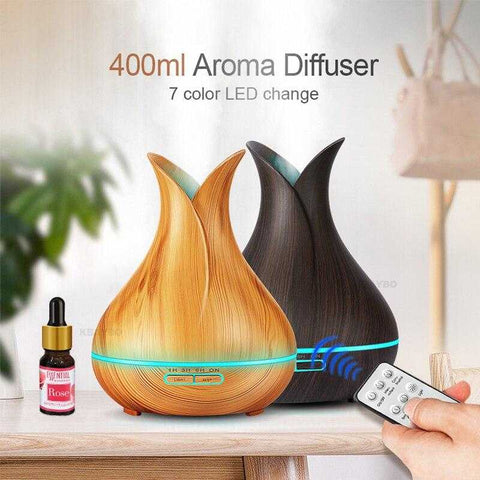 Image of Wooden Grain Petal Essential Oil Disffuser - MyShoppingSpot