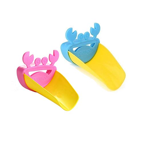 Faucet Extender Baby Child Cartoon Animal Sink Faucet Handle Extender Bathroom Safety Water Spout & Sink Handle Extender for Kitchen and Bathroom Sinks, Easy Hand Washing Solution for Children-2 Pack
