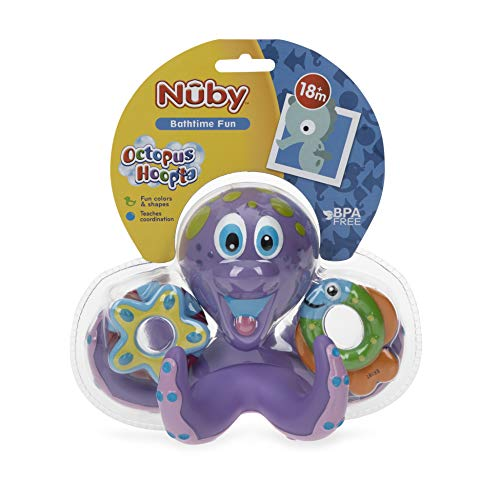 Totz Floating Purple Octopus with 3 Hoopla Rings - MyShoppingSpot