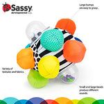 Sassy Totz Developmental Bumpy Ball | Easy to Grasp Bumps Help Develop Motor Skills | for Ages 6 Months and Up | Colors May Vary - MyShoppingSpot