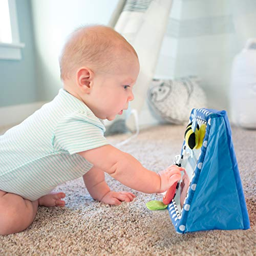 Totz Tummy Time Floor Mirror | Developmental Baby Toy | Newborn Essential for Tummy Time | Great Shower Gift - MyShoppingSpot