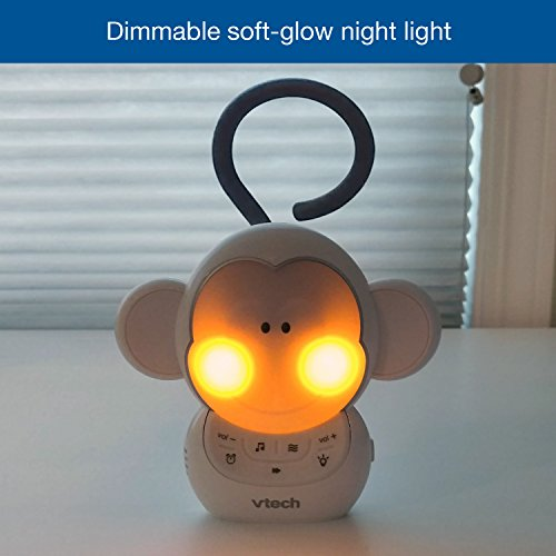 Totz Monkey Baby Sleep Soother with a White Noise Sound Machine Featuring 5 Soft Ambient Sounds, 5 Calming Melodies & Soft-Glow Night Light - MyShoppingSpot