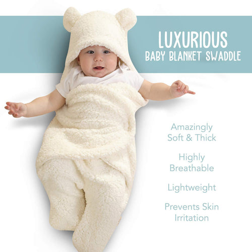Totz Swaddle Blanket | Ultra-Soft Plush Essential for Infants 0-6 Months - MyShoppingSpot