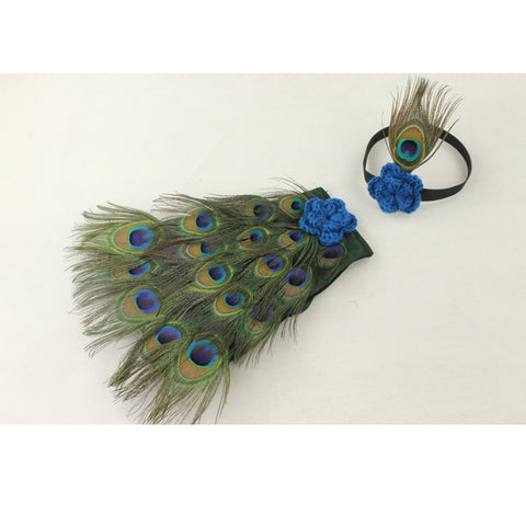Image of Peacock Newborn Photography Prop - MyShoppingSpot
