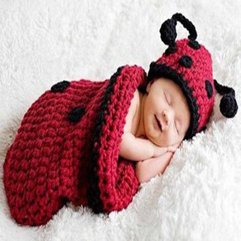 Crochet Beetle Baby Photo Prop