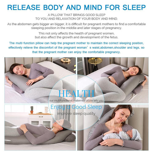 U-Shaped Pregnancy Pillow For a Comfortable Nights Sleep
