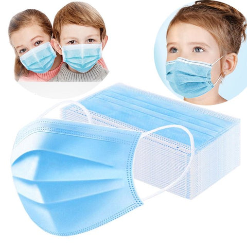 Image of Face Mask Child and Adult Size Disposable - Earloop Protective Mask - 20 or 50 Count FDA Certified - MyShoppingSpot