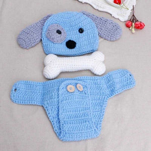 Newborn Photo Prop Crochet Dog Outfit - MyShoppingSpot