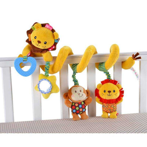Baby Animals Bed Bumper - New Baby Spiral Toy - FREE SHIPPING