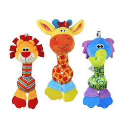 Soft Baby Animal Teether Rattle Squeaker - FREE Shipping - MyShoppingSpot