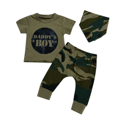 Baby / Toddler Camo T-shirt & Pants Outfits 0-24M