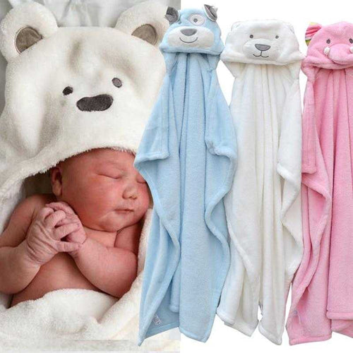 """Baby's in Bloom"" - Animal Baby Bath Towel - Multi Purpose - MyShoppingSpot"