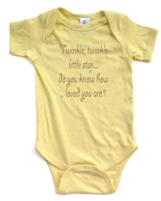 Twinkle Twinkle Little Star Nursery Rhyme Short Sleeve Comfy Baby Bodysuit - MyShoppingSpot