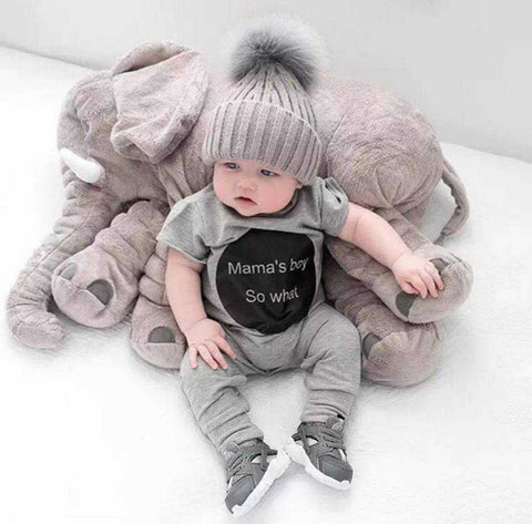 Elephant Baby Sleep Pillow - Adorable Soft And Sweet Baby Elephant Pillow - High Quality