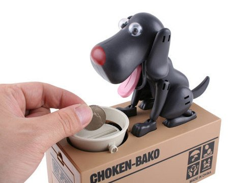 "Doggy Coin Box - ""So fun to watch, I had to buy one of each!"" Dale - Customer - MyShoppingSpot"