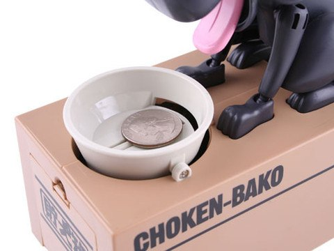 "Image of Doggy Coin Box - ""So fun to watch, I had to buy one of each!"" Dale - Customer - MyShoppingSpot"