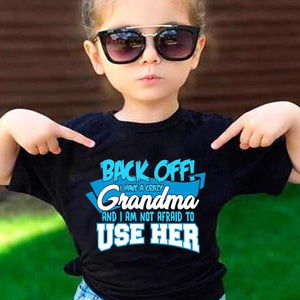 Back off  Crazy Grandma Shirt - MyShoppingSpot
