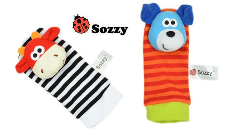 Baby Wrist Strap Rattles & Animal Socks - MyShoppingSpot