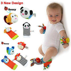 Baby Wrist Strap Rattles & Animal Socks -