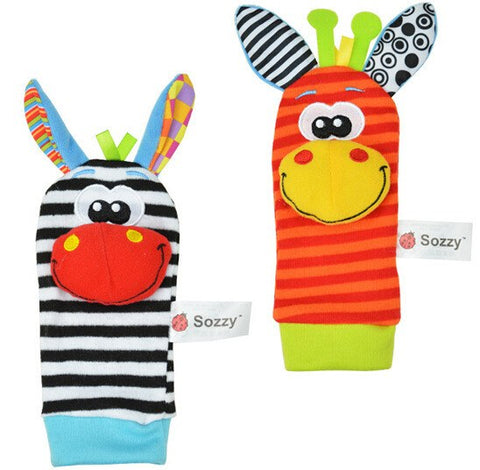 "Image of Baby Wrist Strap Rattles & Animal Socks - ""Even cuter than I thought they were gonna be."" - Susan W. - MyShoppingSpot"