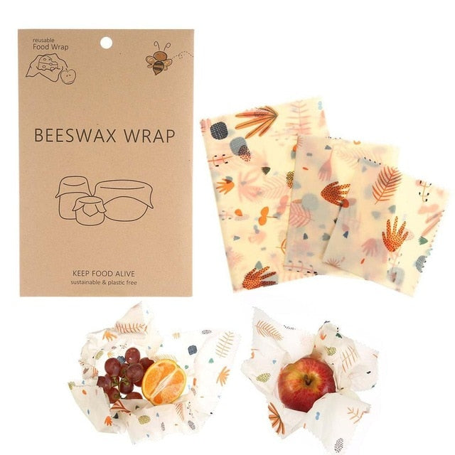 Eco-Friendly Reusable Beeswax Baby Food Wraps   - MyShoppingSpot