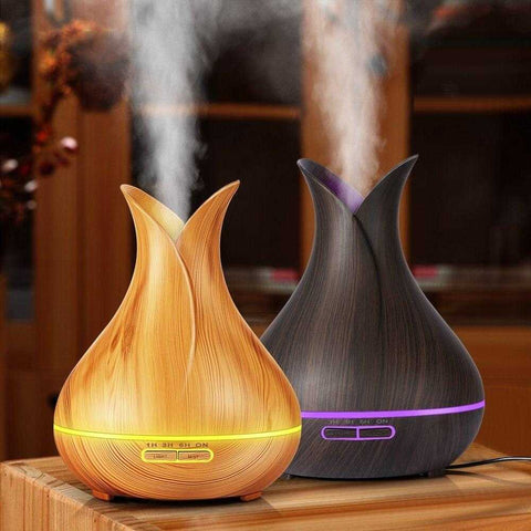 Wooden Grain Petal Essential Oil Disffuser - MyShoppingSpot