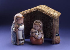 De Rosa Nativity Stable Scene with Mary, Baby Jesus and Joseph NEW