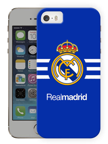 Real Madrid Protective Hard Case For Apple Iphone SE (2016) - Printed Phone Cover
